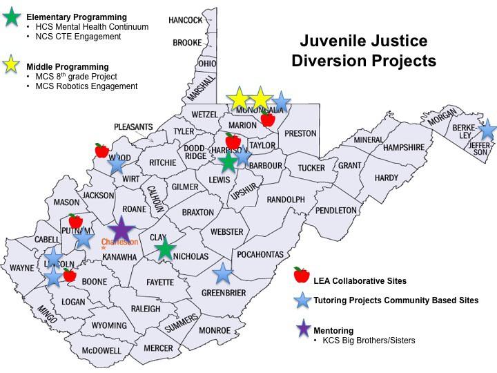 Juvenile Justice Diversion map image