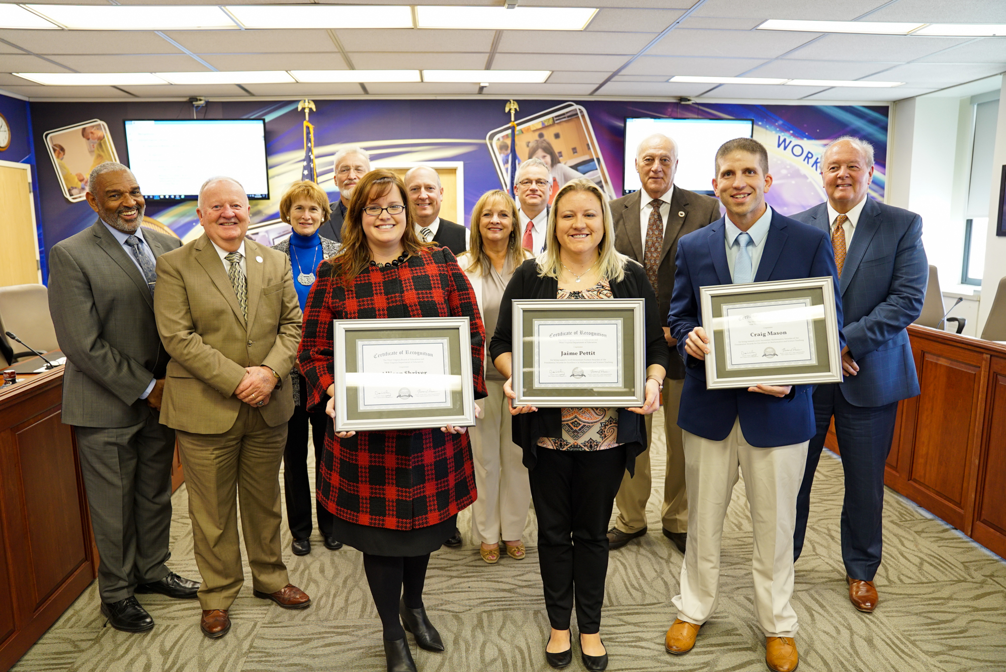 November 2019 WVBE Recognitions Photo