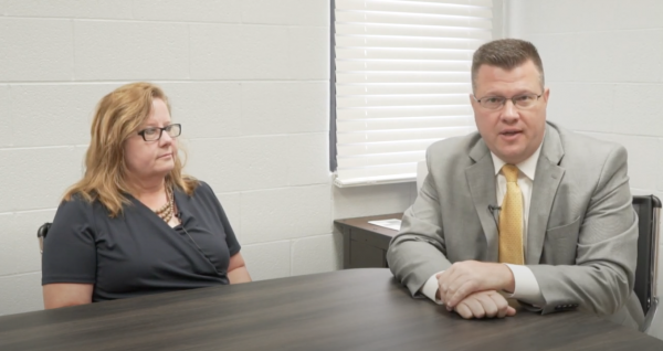 State Superintendent of Schools Clayton Burch sits down with Nicholas County Schools Superintendent Dr. Donna Burge-Tetrick